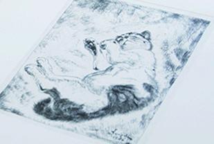 藤田嗣治の未発表銅版画のイメージ
